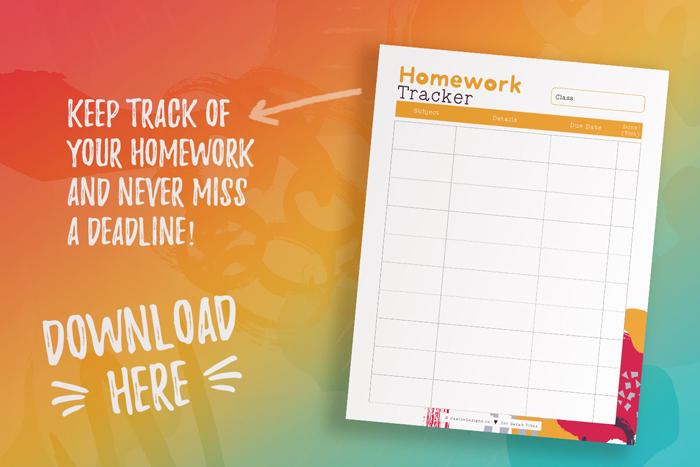 Free Homework Tracker_Student Planner