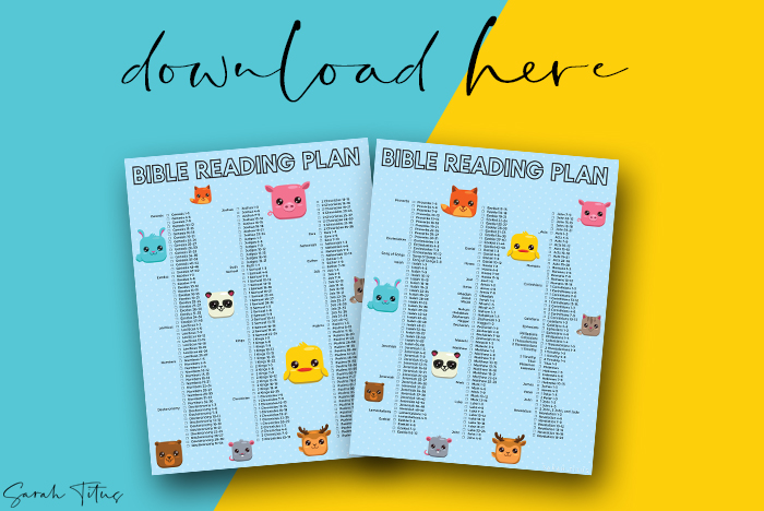 Super Cute Helpful Printable Bible Reading Plans