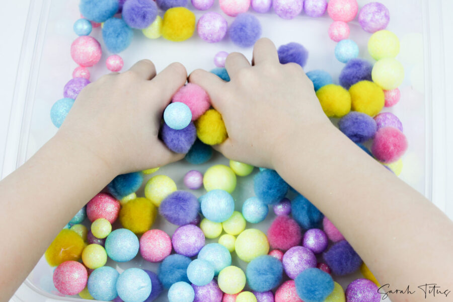 Super Fun Spring Sensory Sorting Colors Game For Toddlers