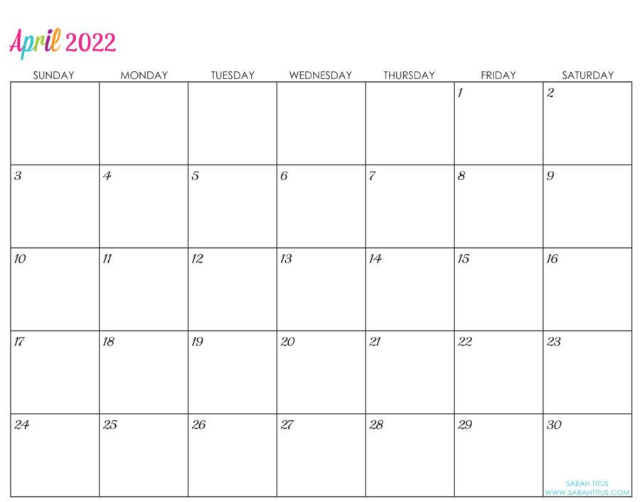 2022-April-calendar