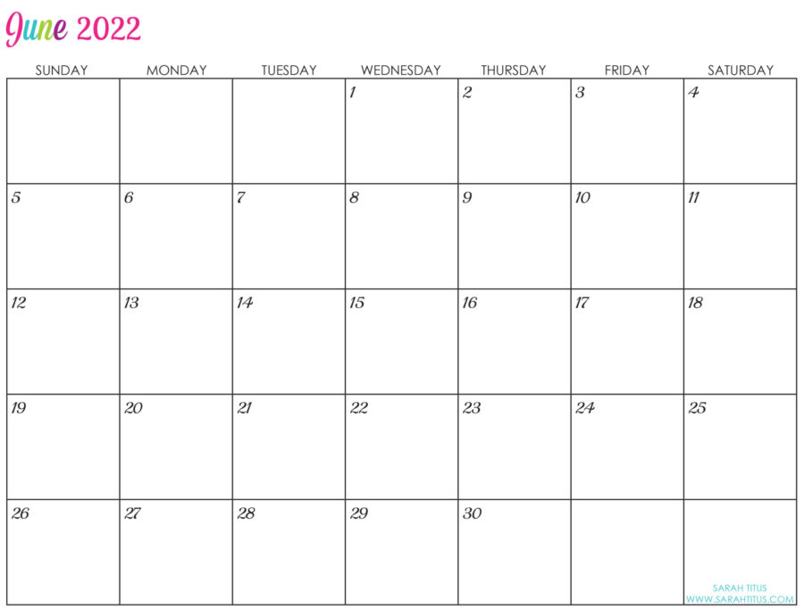 2022-June-calendar