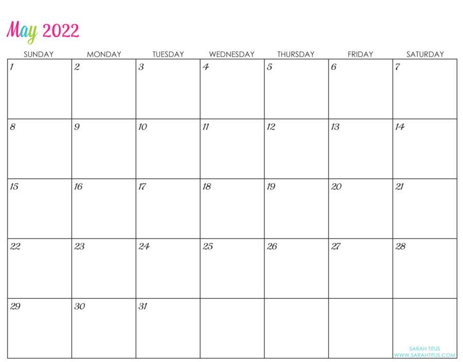 2022-May-calendar