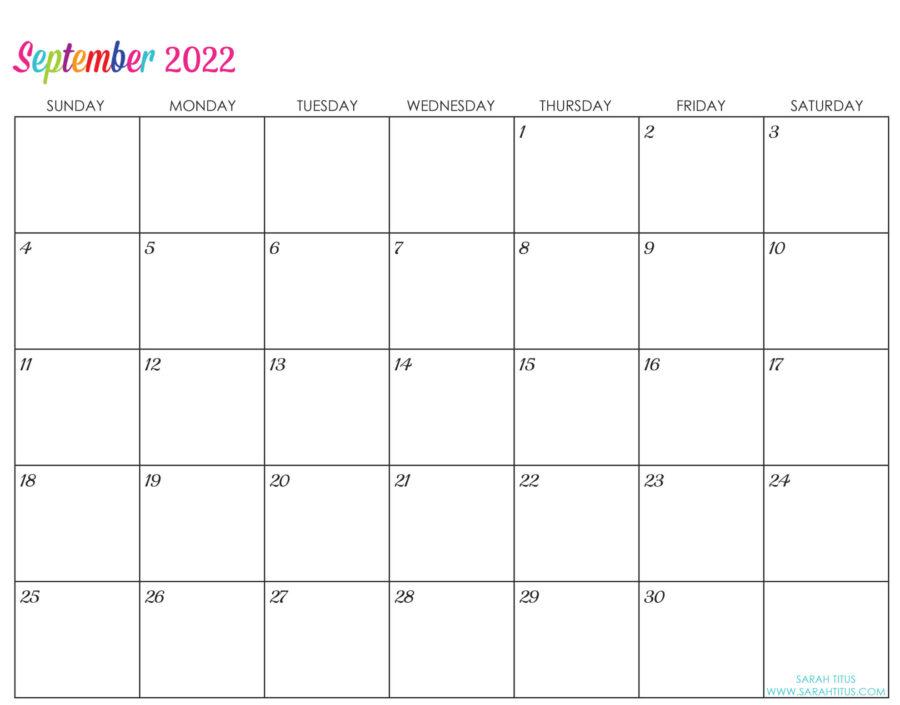 2022-September-calendar