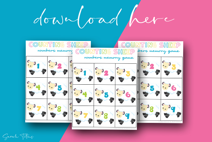 Awesome Numbers Memory Games Printables For Kids To Enjoy Counting Sheep