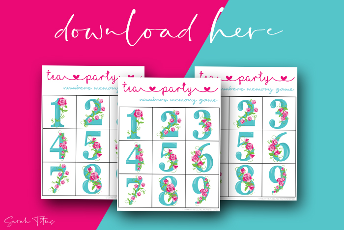 Awesome Numbers Memory Games Printables For Kids To Enjoy Tea Party