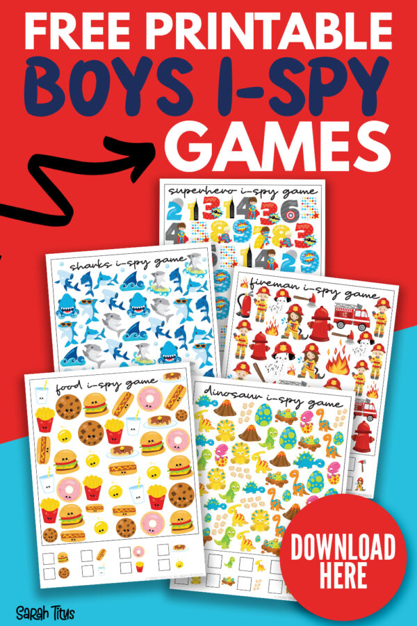 Free Printable Boys I-Spy Games