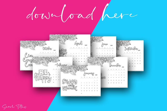 Beautiful Artwork 2021 Printable Calendars For Free Coloring Calendar Horizontal