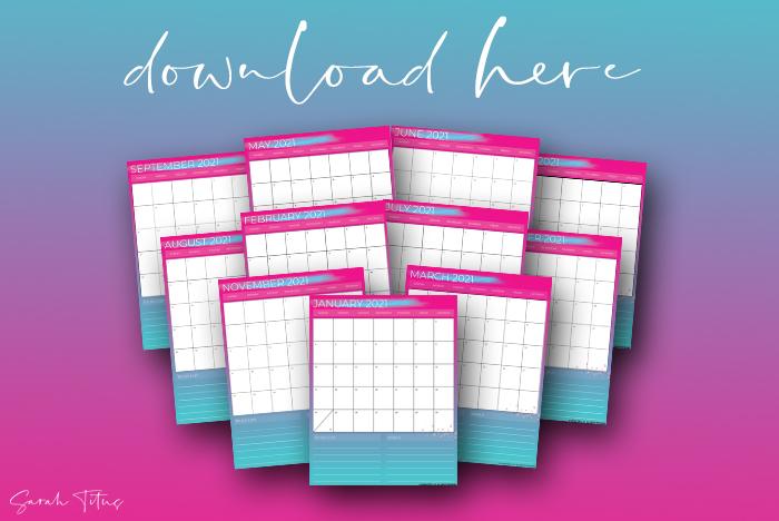 Beautiful Artwork 2021 Printable Calendars For Free Pink Calendars