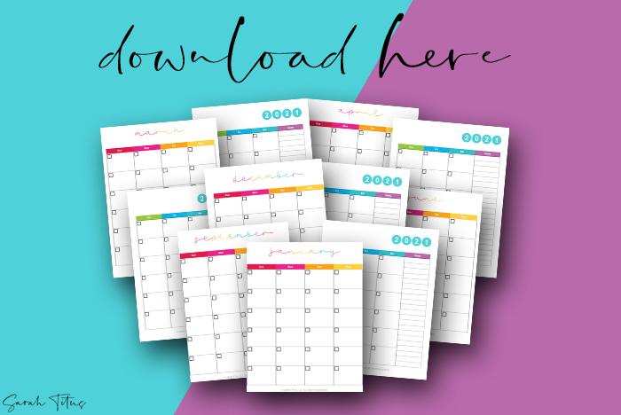 Beautiful Artwork 2021 Printable Calendars For Free Rainbow