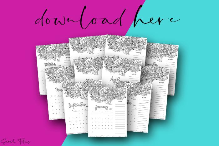 Beautiful Artwork 2021 Printable Calendars For Free Vertical