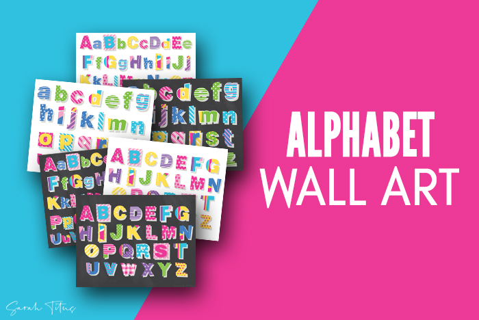 Colorful Classroom Alphabet Printable Wall Art Free