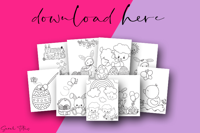 Cutest Art Easter Printable Coloring Pages