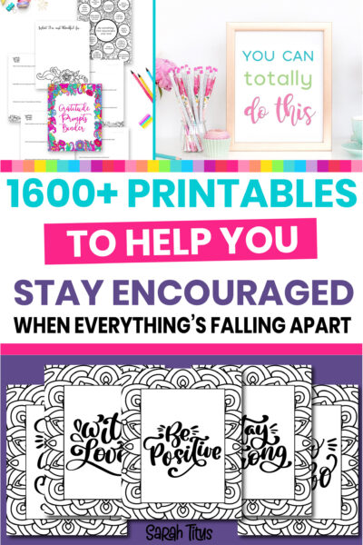 Are you feeling down and discouraged lately? Here are 5 great habits of how to stay encouraged and increase your motivation even when everything's falling apart! Use these printables (most are FREE) to lift your spirits, and you'll feel more relaxed, positive and better instantly!