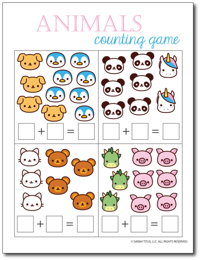 Addition-Counting-Game-Animals