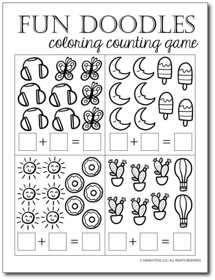 Addition-Counting-Game-Fun-Doodles-Coloring