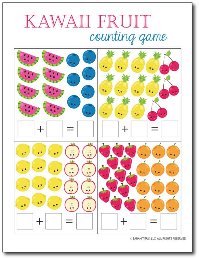 Addition-Counting-Game-Kawaii-Fruit