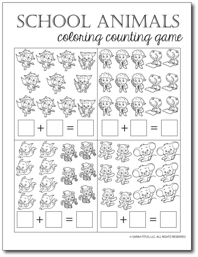 Addition-Counting-Game-School-Animals-Coloring