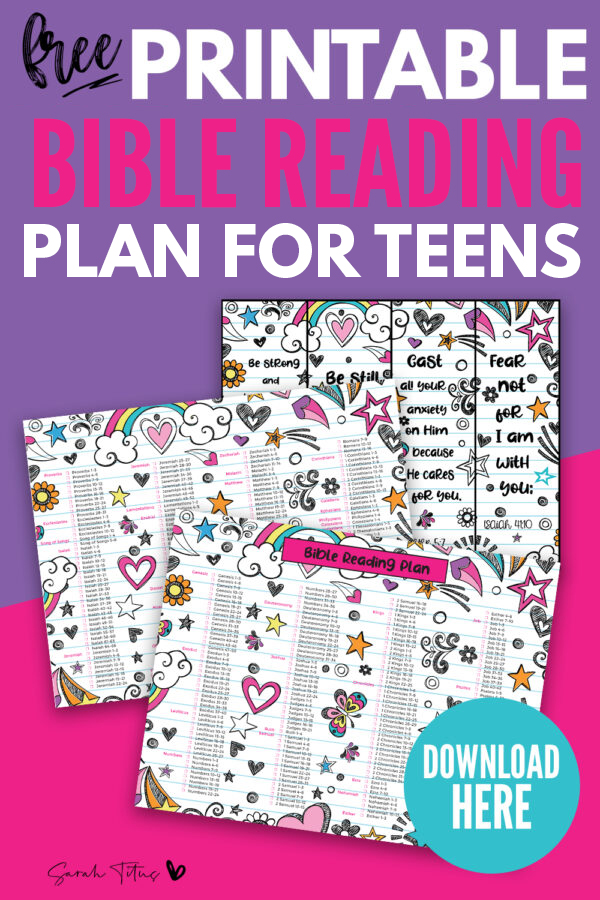 Do you need a bible reading plan to help keep you on track? This free printable bible reading plan for beginners (for teens, for kids and adults) is perfect to help with studying structure. Read daily or whenever you have time each week/month and then check mark the appropriate box on the template! See how much you can read in one year! #chronological