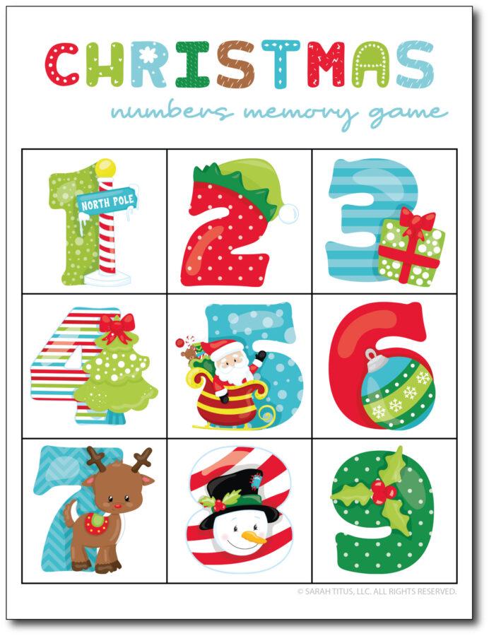 Christmas-Numbers-Memory-Game