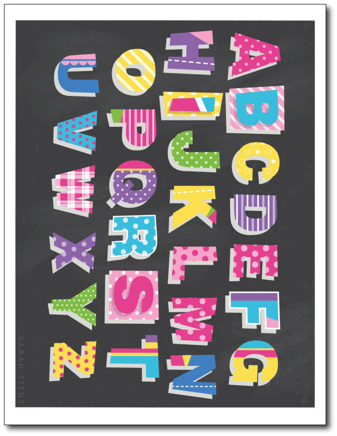 Colorful-Classroom-Alphabet-Printable-Wall-Art-Free-Black-Capitals