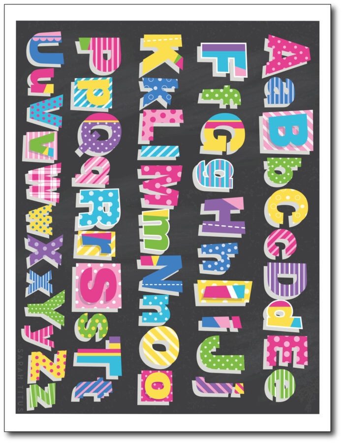 Colorful-Classroom-Alphabet-Printable-Wall-Art-Free-Black-Upper-Lower