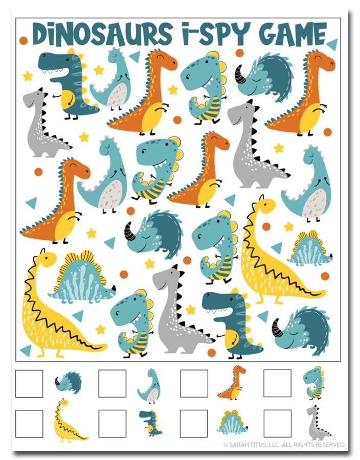Dinosaur I-Spy Game
