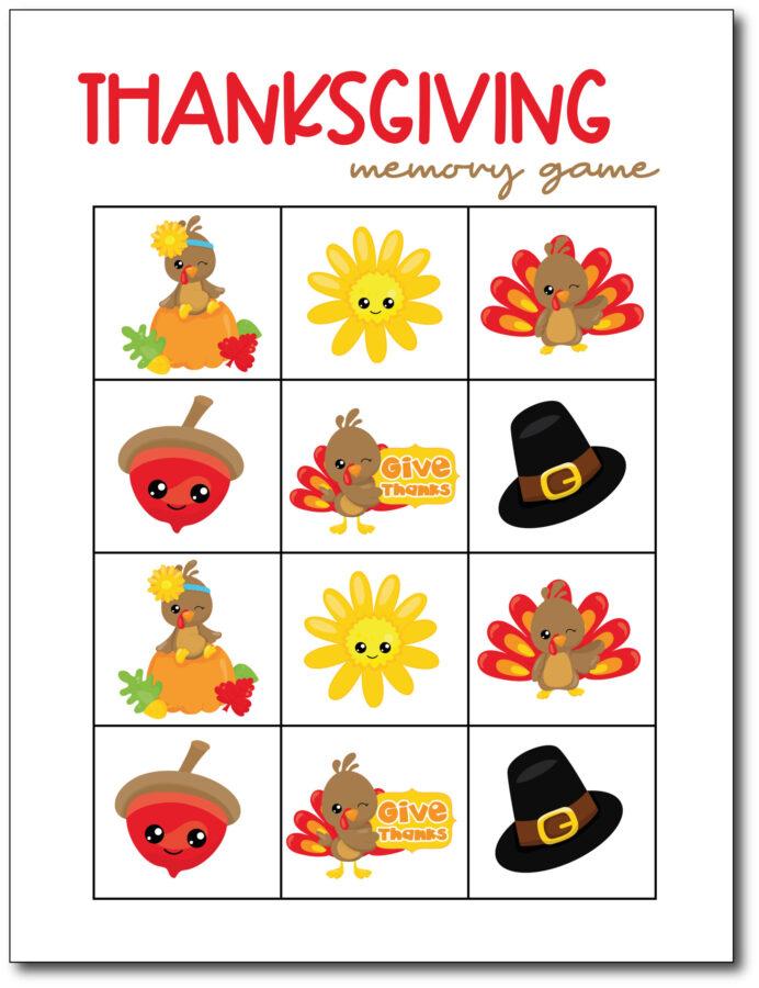 Memory-Game-Thanksgiving