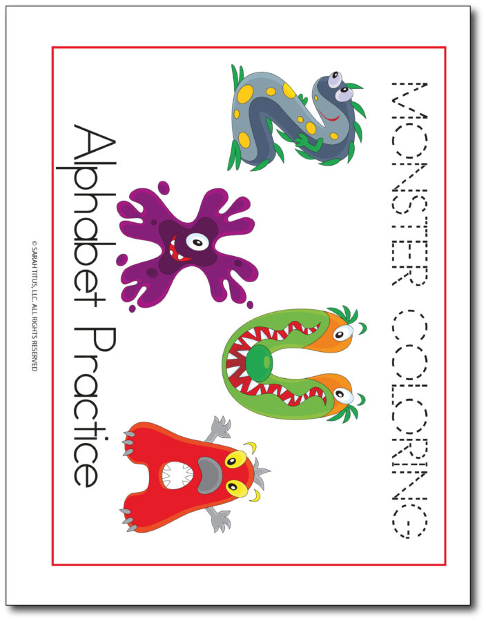Monster-Alphabet-Handwriting-Practice-Colorable