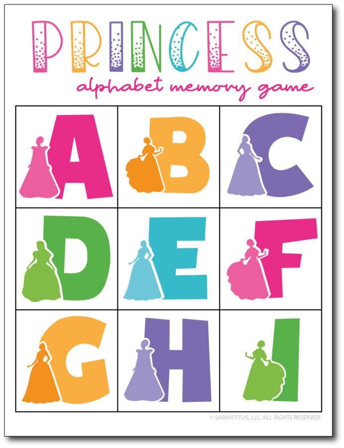 Princess-Alphabet-Memory-Game