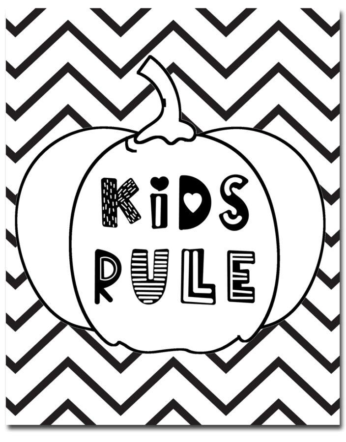 Pumpkin Fall Coloring Sheets