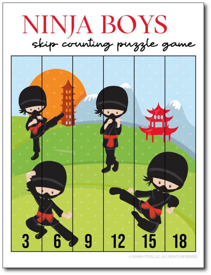 Skip-Counting-Ninja-Boys-3s