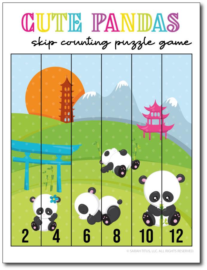 Skip-Counting-Pandas-2s