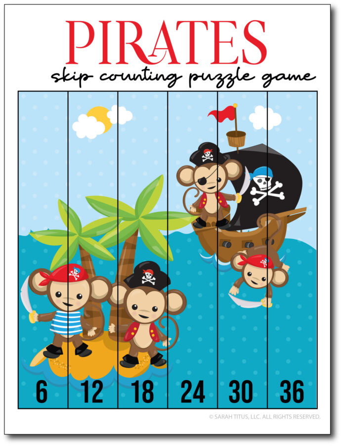 Skip-Counting-Pirates-6s