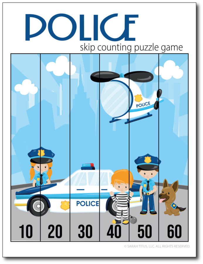 Skip-Counting-Police-10s