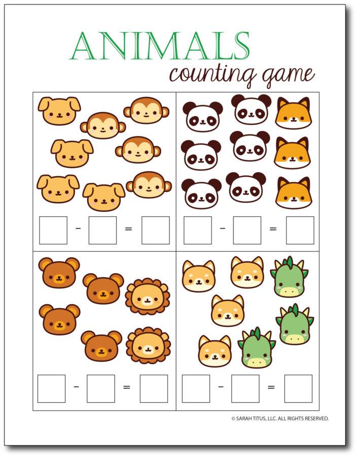 Subtraction-Printables-Animals