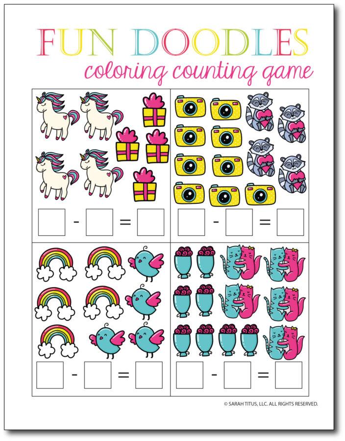 Subtraction-Printables-Fun-Doodles