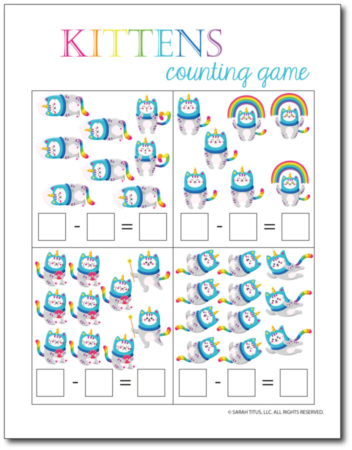Subtraction-Printables-Kittens