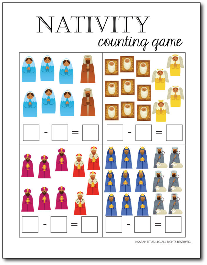 Subtraction-Printables-Nativity