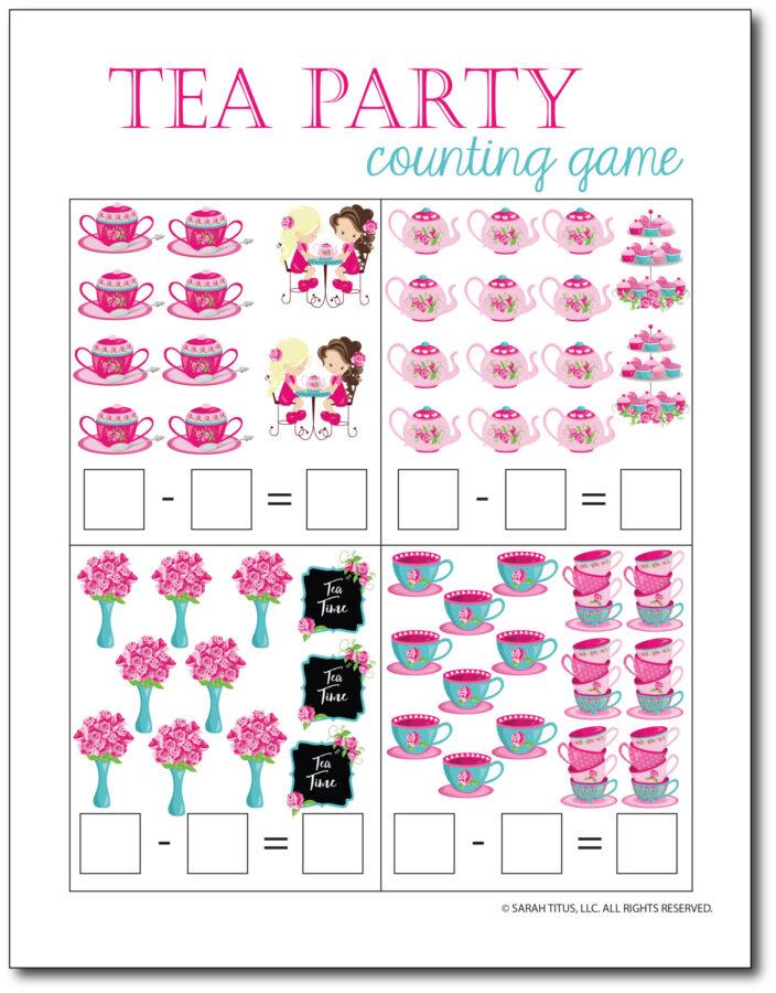 Subtraction-Printables-Tea-Party