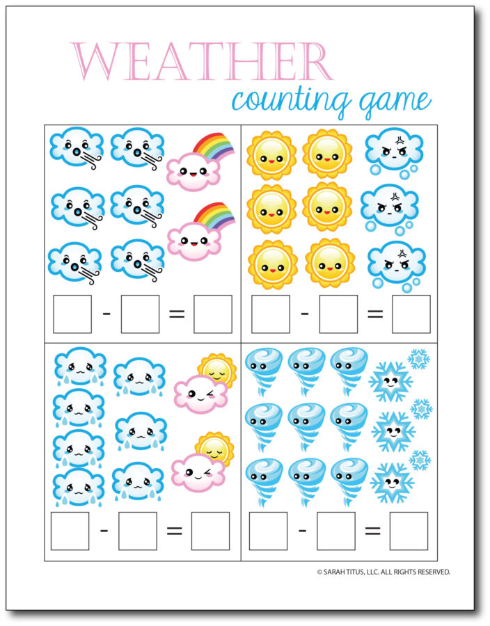 Subtraction-Printables-Weather