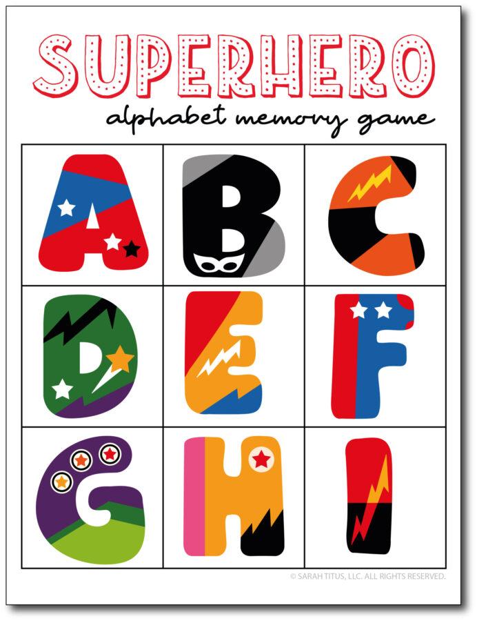 Superhero-Alphabet-Memory-Game