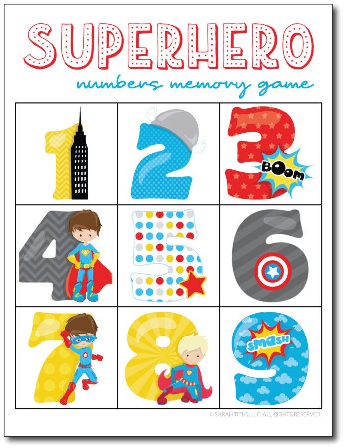 Superheroes-Numbers-Memory-Game