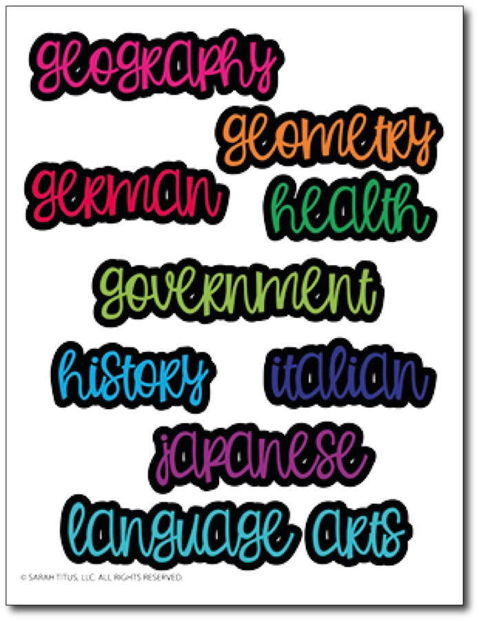Trendy-Stickers-For-Student-Folder-2