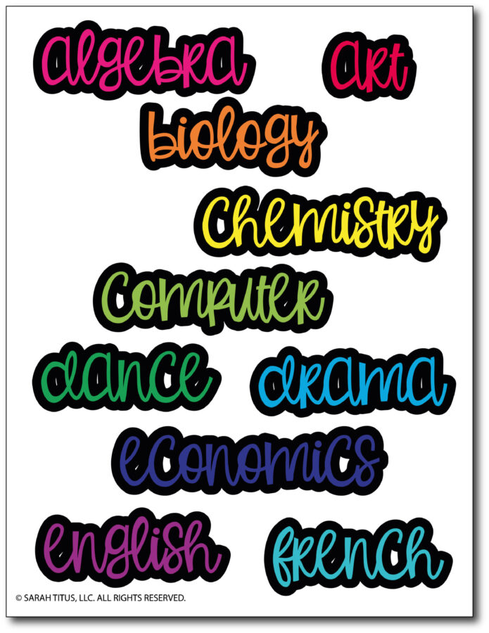 Trendy-Stickers-For-Student-Folder