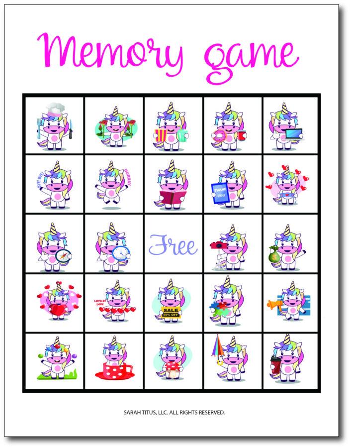 Unicorn Memory Game