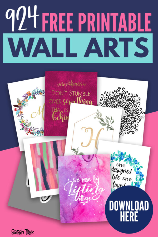 Looking for FREE wall art prints? Here's a MASSIVE collection of the best wall art printables! From abstract & modern to vintage, boho & minimalist you'll find a print perfect for the bedroom, living room, bathroom, kitchen - any room! Includes innspirational quotes, black and white designs, kids prints & much more!