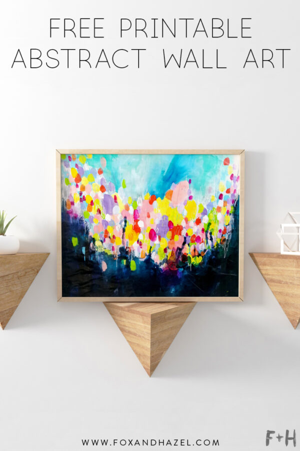 Free Printable Abstract Wall Art Fox Hazel