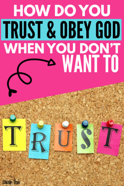We all go through seasons, periods in our lives when we just don't want to obey God. It seems hard to trust Him. Here's five things that will help flip that rebellion quick. :)