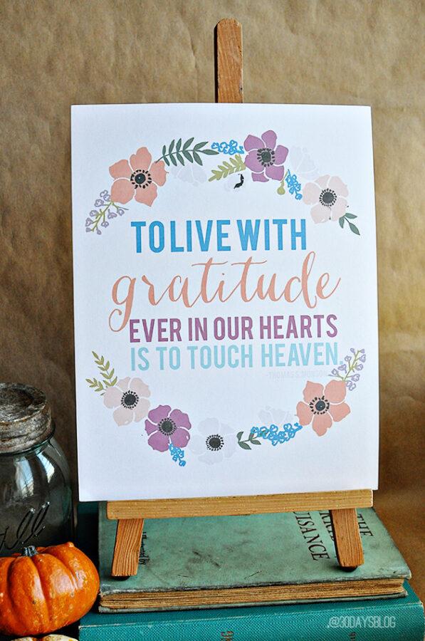 Gratitude Quote Wall Art Set