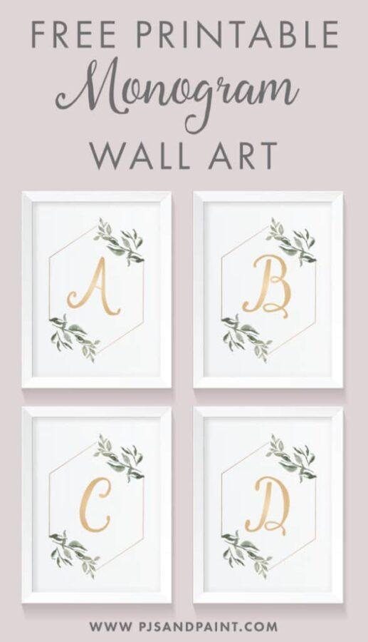 Monogram Wall Art Set